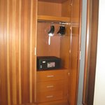 Large closet with safe