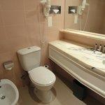 Baño de la habitación del Marriot de LIsboa