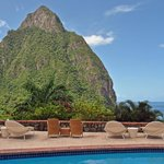 Piton View from Pool Area