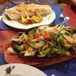 Burrito and Chicken fajita