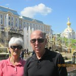 By the fountains at Peterhof