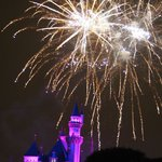 Fireworks show from Main St USA