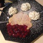 Waffles w/ Cherries & Whipped Cream