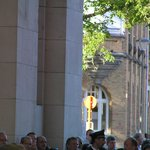 The crowd at menin Gate for the Last Post ceremony.