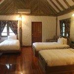 ห้องพักแบบ 3 เตียงในบ้านหลังใหญ่