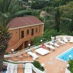 Panoramica zona delle tre piscine.