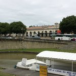 The train station accross the Canal Du Midi from the Bristol Hotel