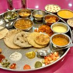 The Gujarati Thali at Shri Thaker Bhojnalay, Mumbai