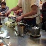 Made to order okinomiyaki