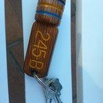 The huge door key