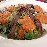 Romesco endive and anchovies