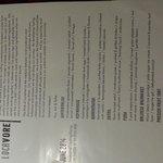 Tasting menu June 2014