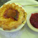 chicken pot pie and cranberry - really delicious