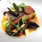 Seared Bantry bay hake