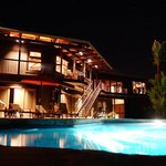 BB, view from the pool at night