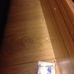 empty pack found on floor at bed hed