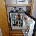 Mini bar and safe