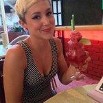 Now THATS a strawberry daiquiri!!! Yummyyyyy @TheFatCat