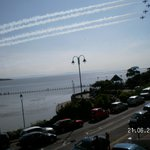 Watching Red Arrows from balcony