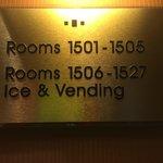 Top Floor Signs (27 Rooms On Each Floor)