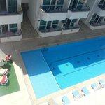 View from top floor balcony