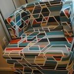 Lovely modern swivel chair in bedroom