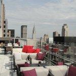 Outside terrace of Bar 54 Hyatt Times Square
