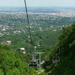 The view of Budapest from the Libego chairlift