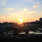 sunset Aberaeron Harbour