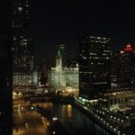 View from corner room at night - Michigan Ave