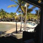Vue de la terrasse (plage principale)