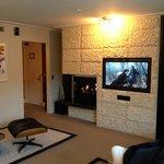 Lovely fireplace and TV/sound system