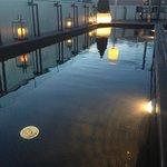 Couloir de nage le soir