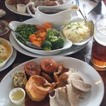 Very enjoyable Sunday roast dinner