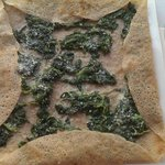 Galette: Spinach and grated Parmigiano cheese