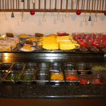 Fresh salads and sweets