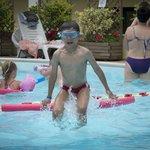 Swimming pool heated
