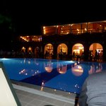The activity pool at night