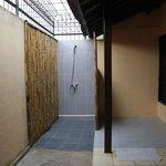 The huge but run-down bathroom