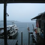View from the dive shop during a storm