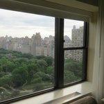 Vista do Central Park pela janela do hotel
