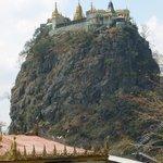 Schaut schon imposant aus der Mount Popa!
