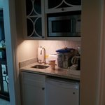 Kitchenette area - frig, microwave, toaster, coffee maker