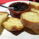 tapanade of black olives and toast