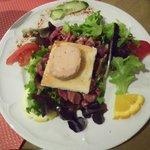 "Salat of ""fois gras"""