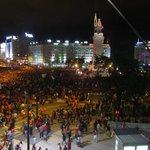 Torcida do Benfica comemora o campeonato nacional, vista privilegiada de nossa janela.