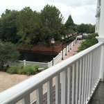 View to right from balcony - room 260 - canal with walkway to parking area
