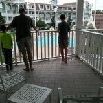 Large balcony with quiet pool view - room 260