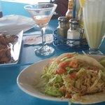 chicken chicharrones and tacos