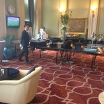 Club Lounge Buffet Counter,  Complimentary Drinks Cabinet & Coffee Machine
